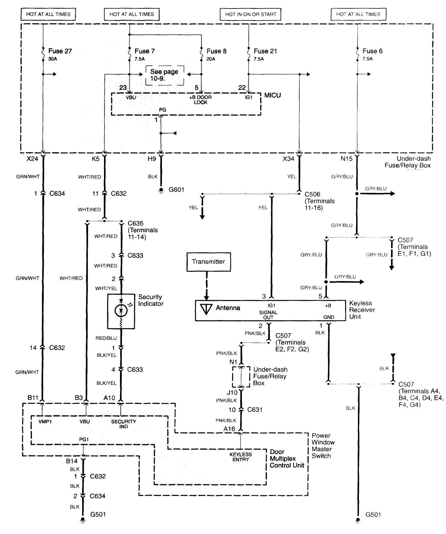 Acura Tl  2003 - 2004  - Wiring Diagrams