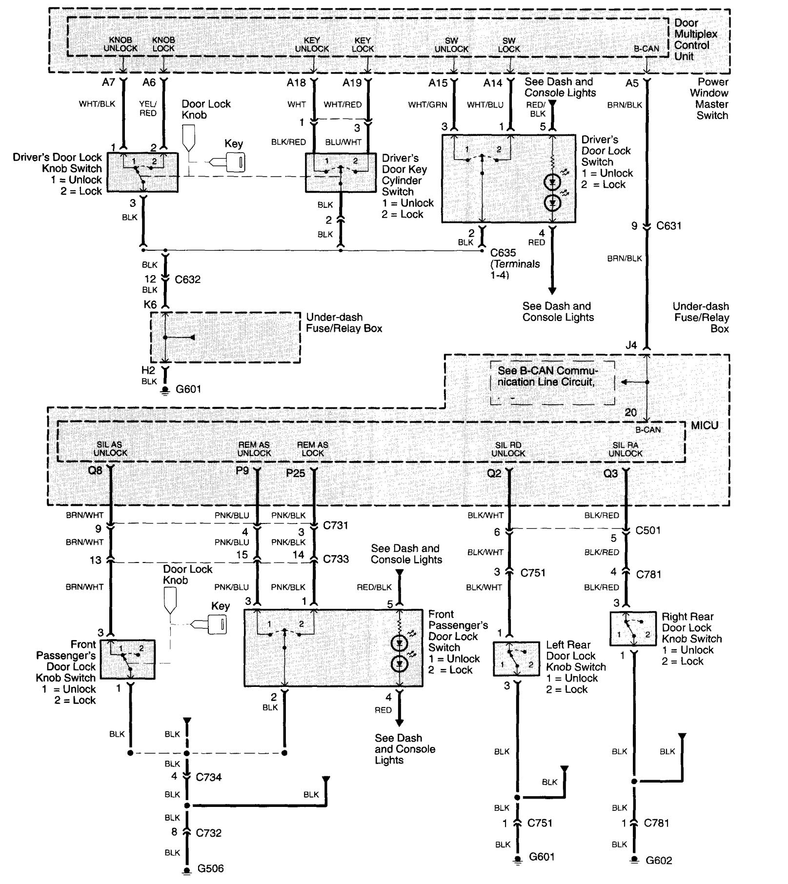 Acura Tl  2003 - 2004  - Wiring Diagrams