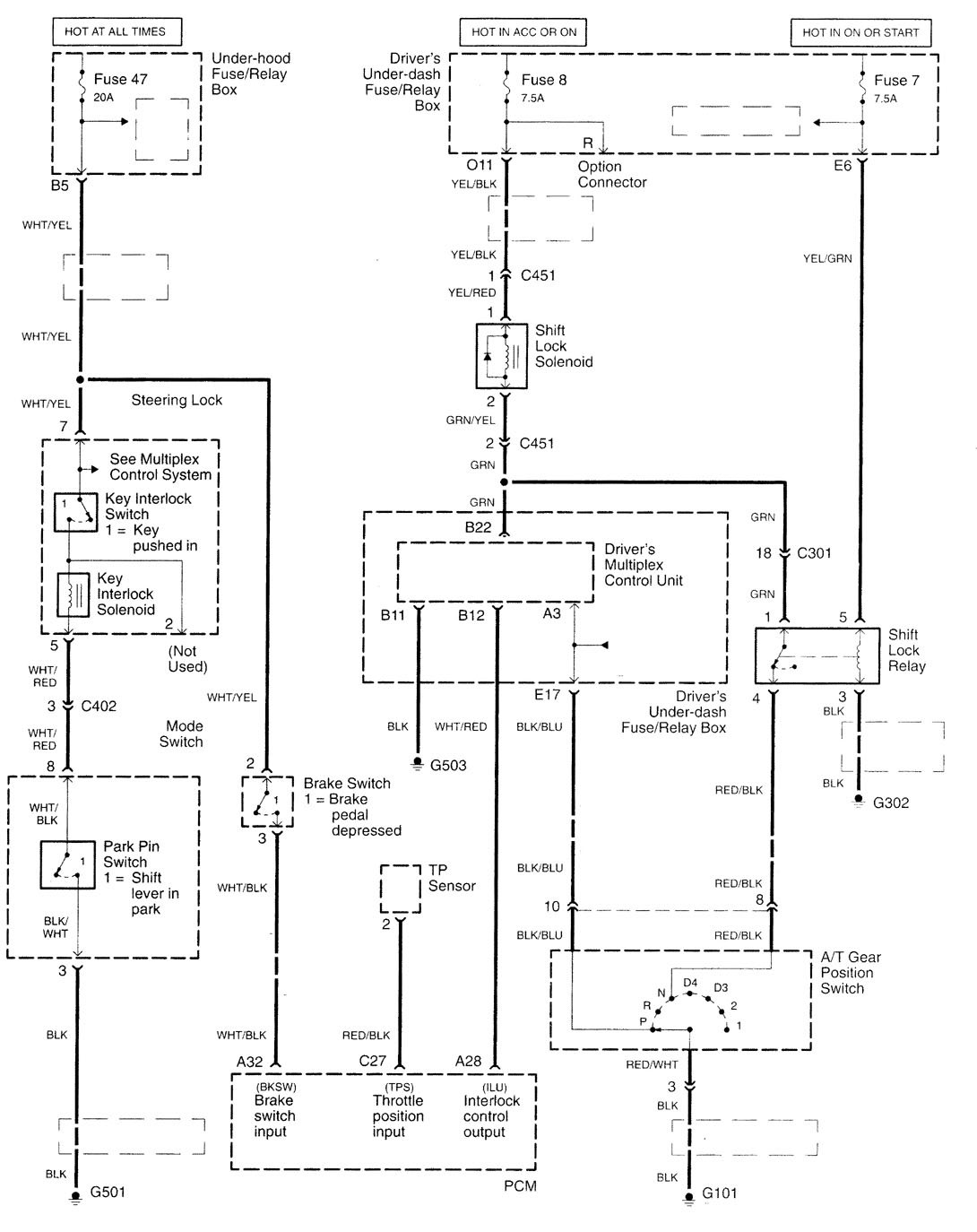 acura tl  2001  - wiring diagrams