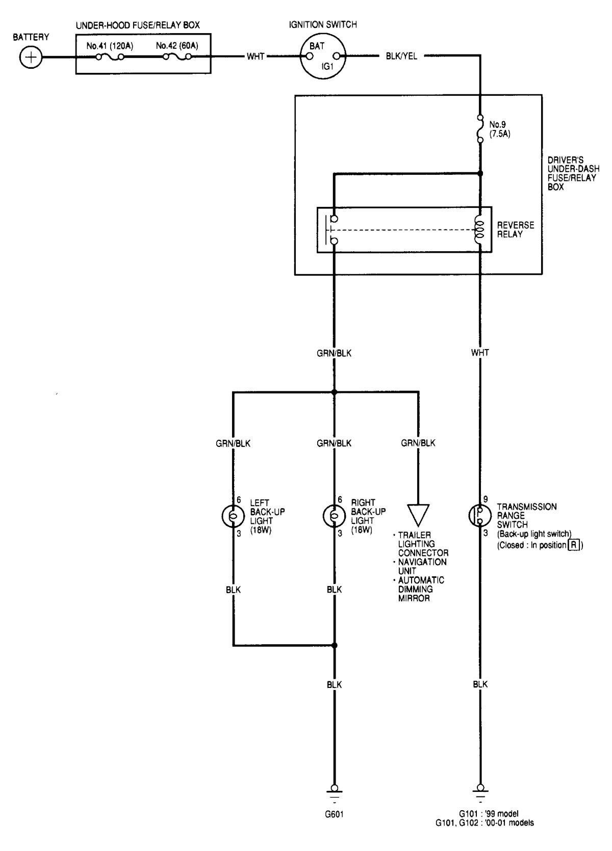 Acura Tl  2000  - Wiring Diagrams