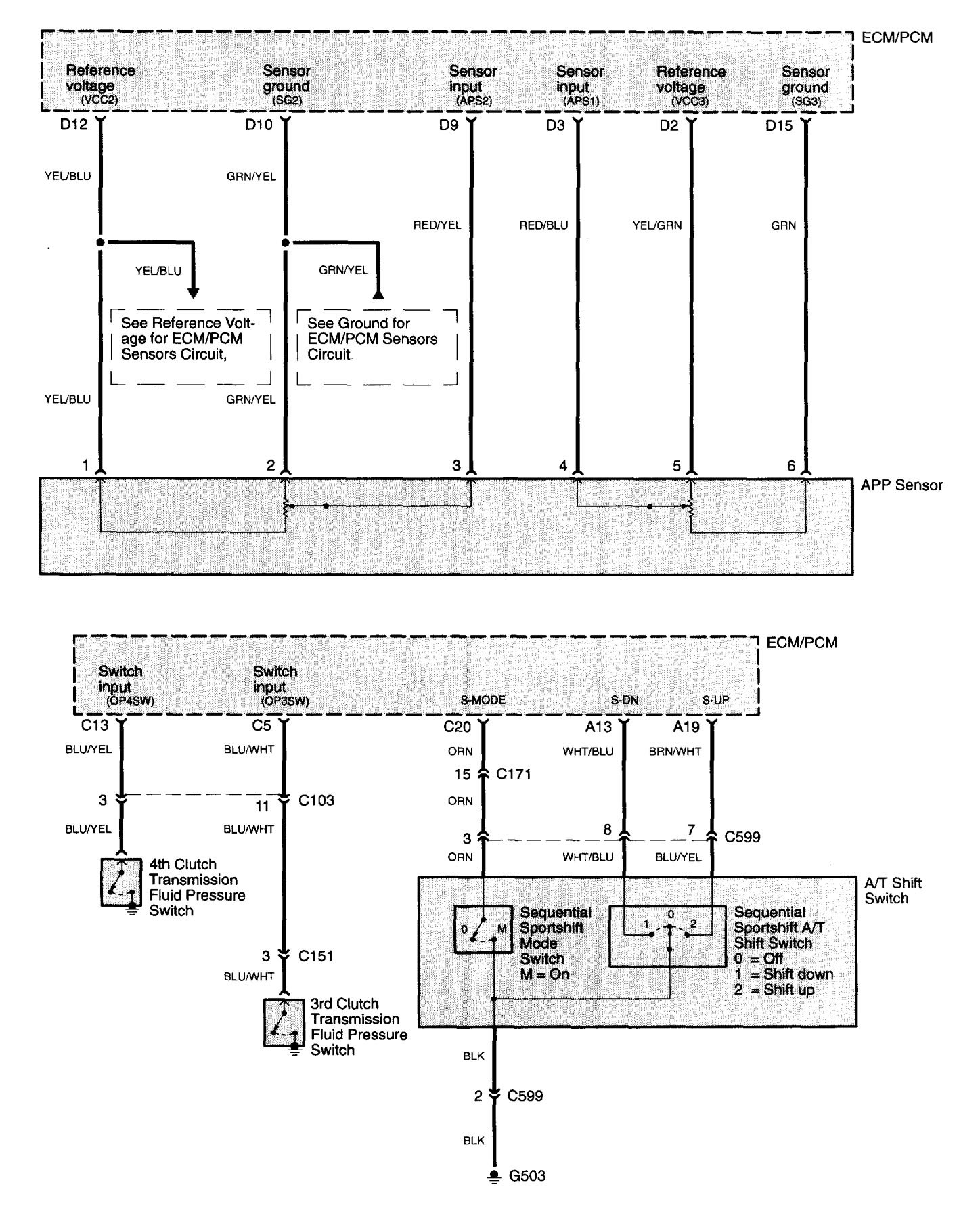 Terrific Acura Tl 2004 2005 Wiring Diagrams Transmission Controls Wiring 101 Tzicihahutechinfo
