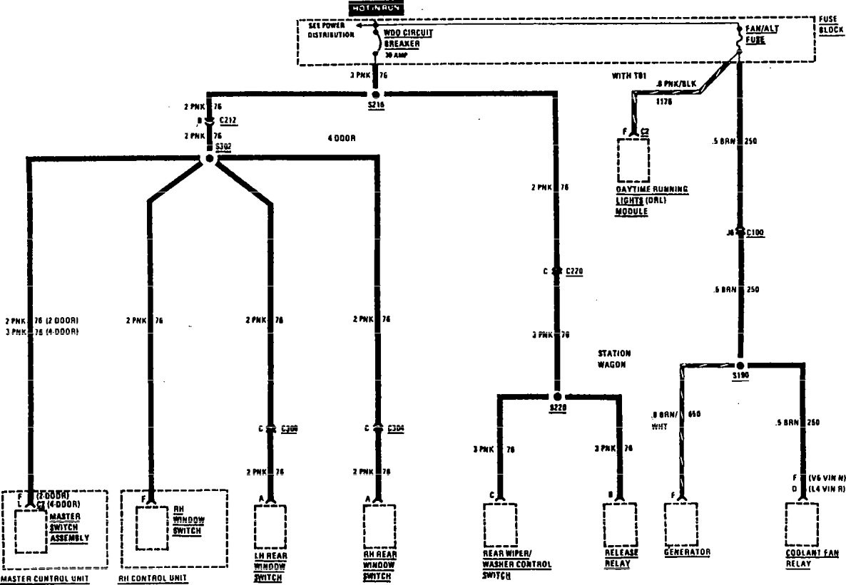 buick century  1991  - wiring diagrams - fuse panel