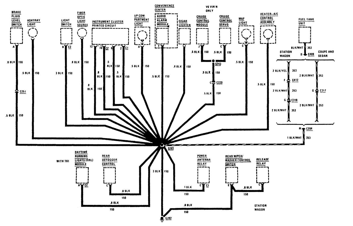 buick century  1991  - wiring diagrams