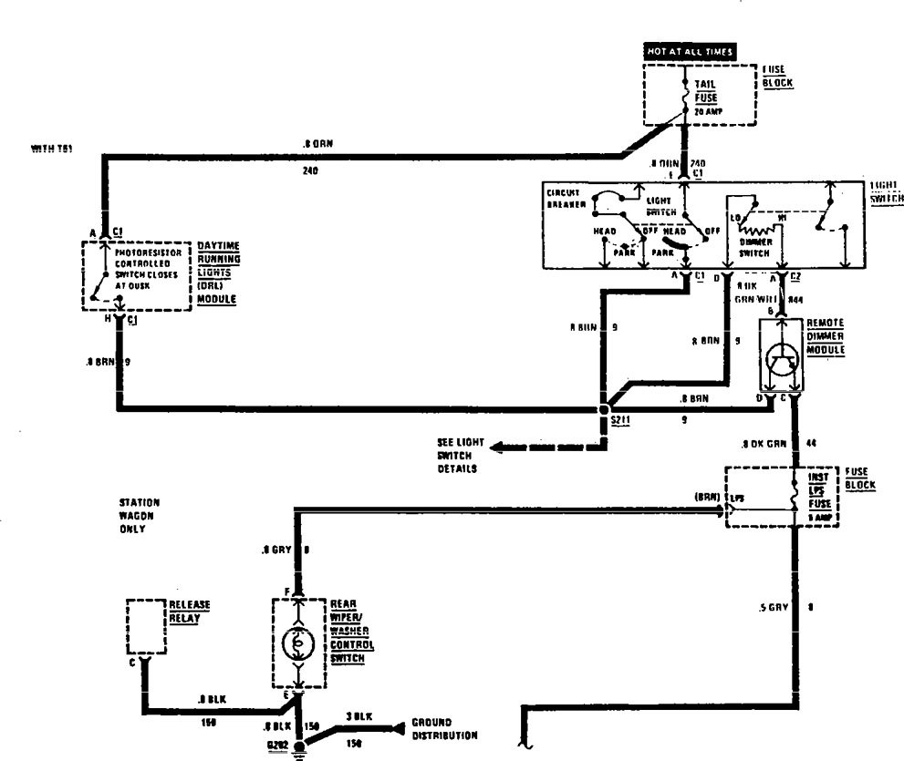Buick Century 1990 1991 Wiring Diagrams Interior Light Electrical Diagram Dimming Part 1