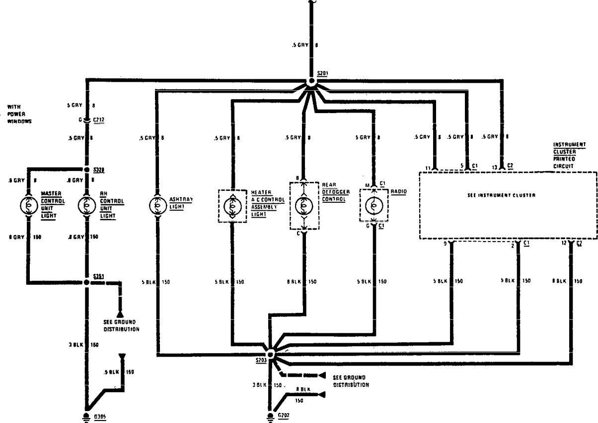 Buick Century 1990 1991 Wiring Diagrams Interior Light Electrical Diagram Dimming Part 2