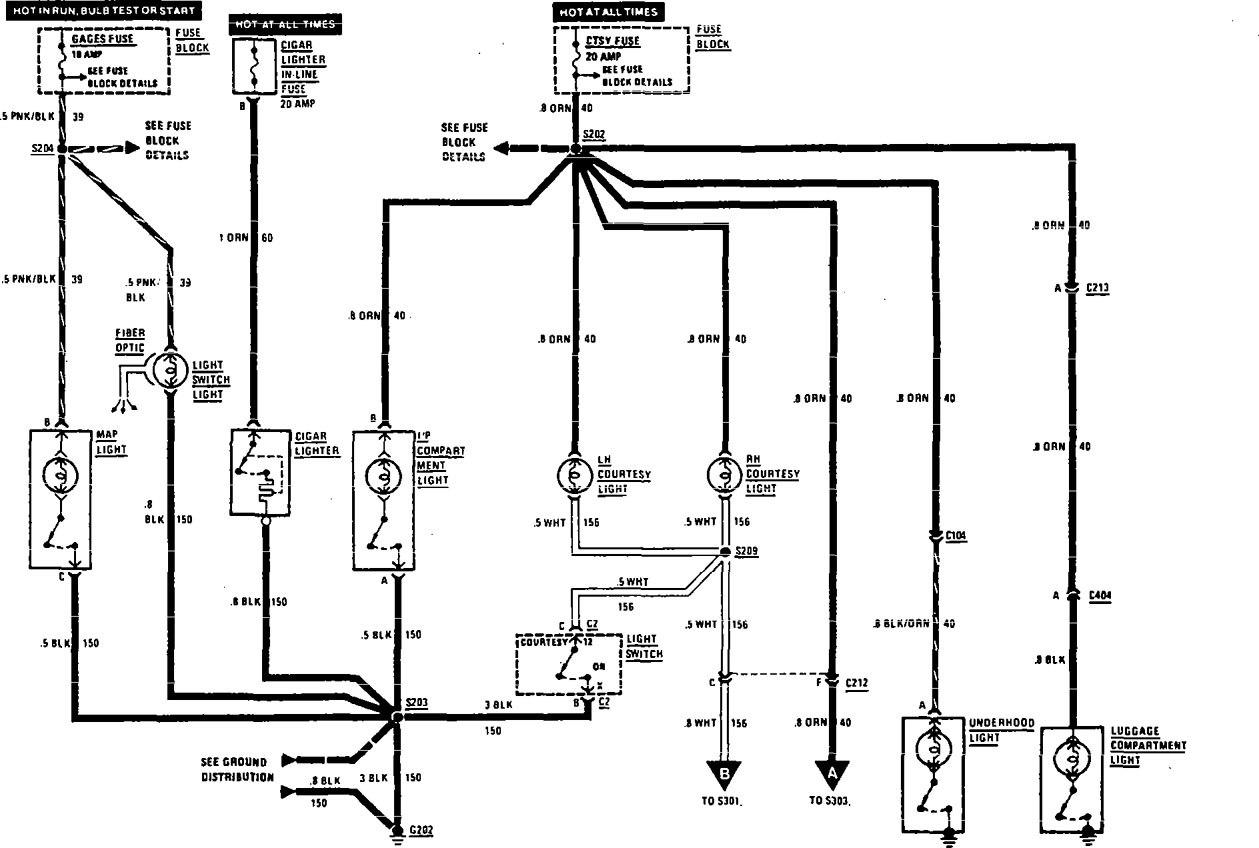 Buick Century 1990 1991 Wiring Diagrams Interior