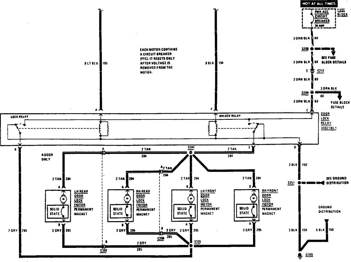 Buick Century  1990 - 1991  - Wiring Diagrams