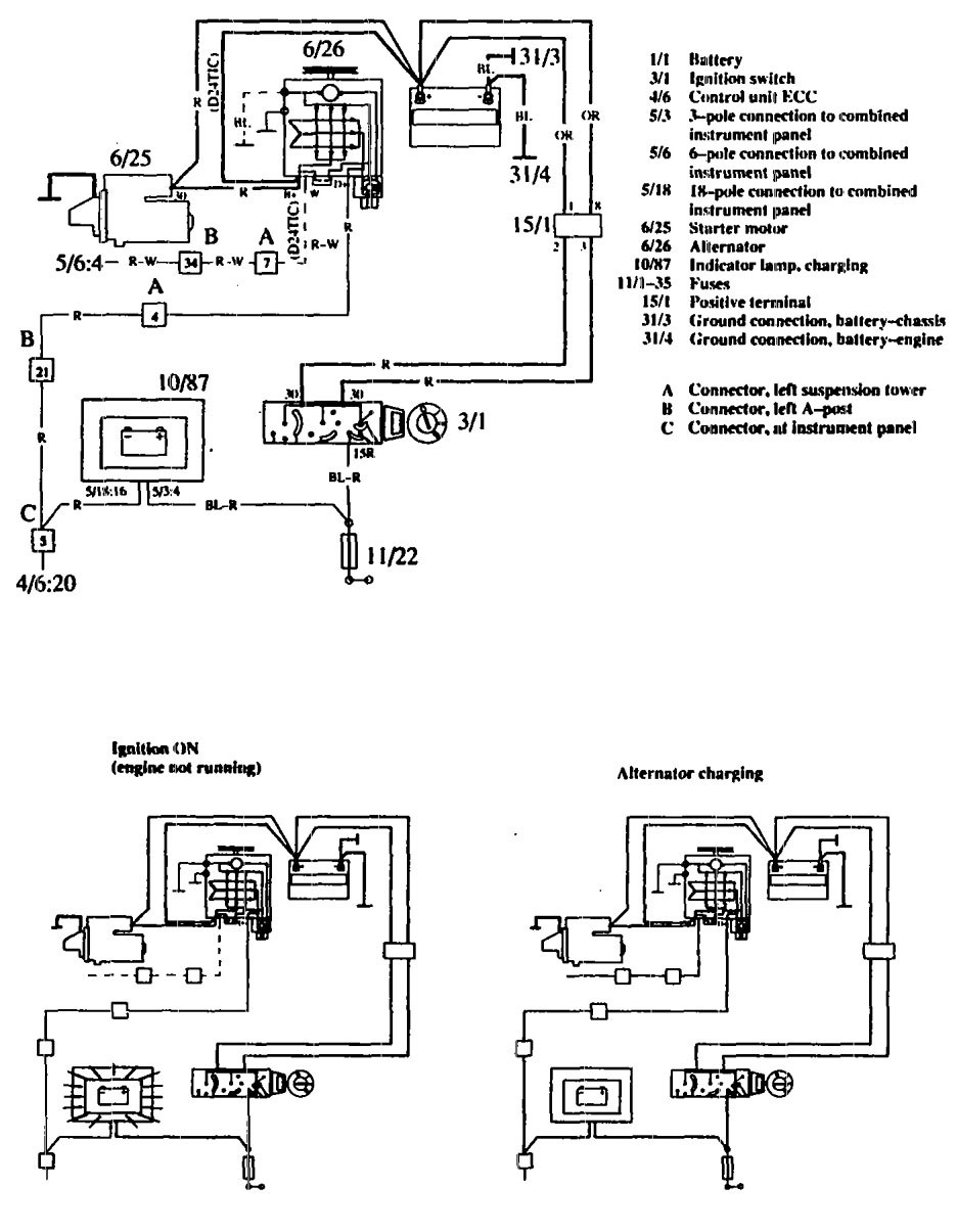 volvo 760 wiring diagram charging system 1990 volvo 760 (1990) wiring diagrams charging system carknowledge Volvo Semi Truck Wiring Diagram at fashall.co
