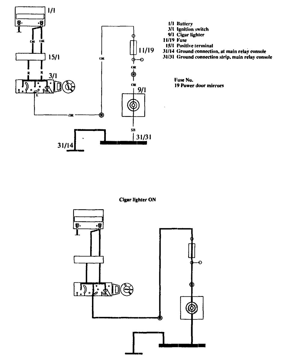 volvo 850 ignition switch diagram