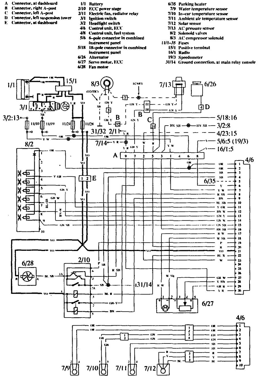 volvo 760  1990  - wiring diagrams - hvac controls