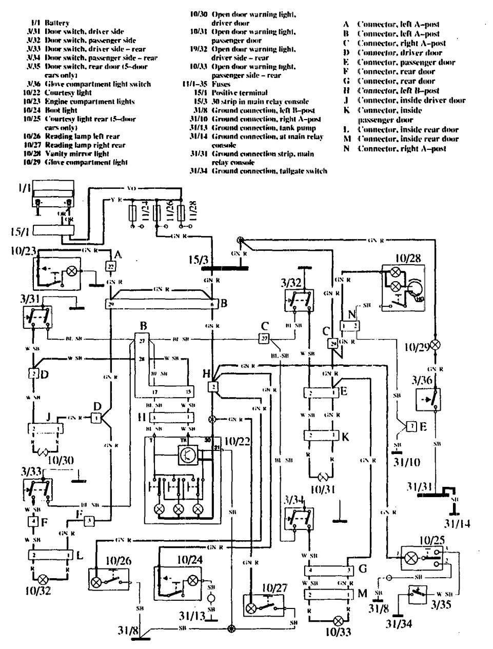 Volvo 760 1990 Wiring Diagrams Interior Lighting Carknowledge 2011 Tahoe Dome Light Schematic Diagram