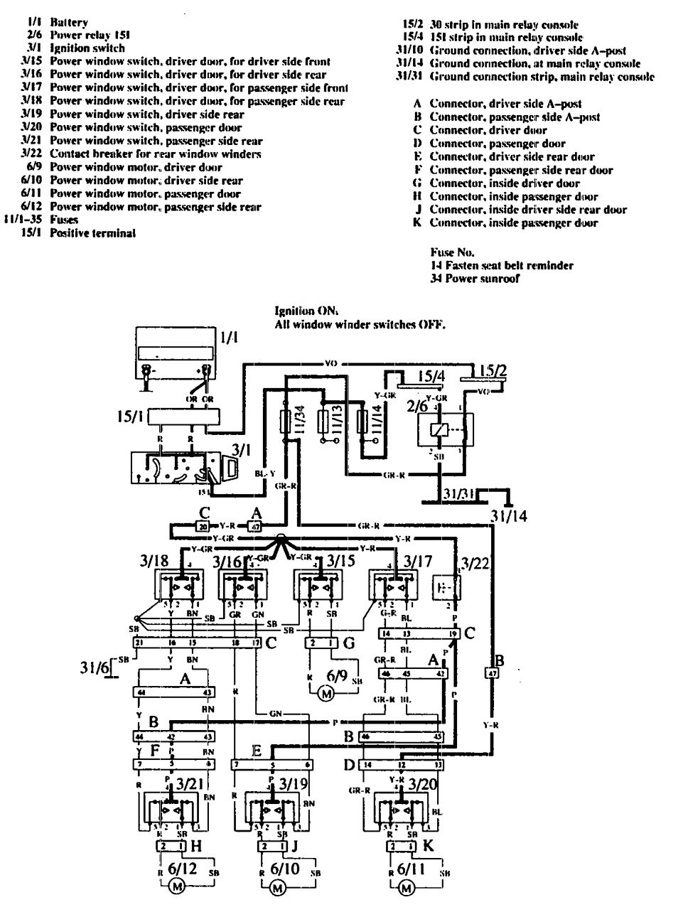 Volvo 760 Relay Diagram Trusted Schematics 1990 740 Gle Wagon Engine Wiring Diagrams Power Windows Carknowledge 2001 Truck Location
