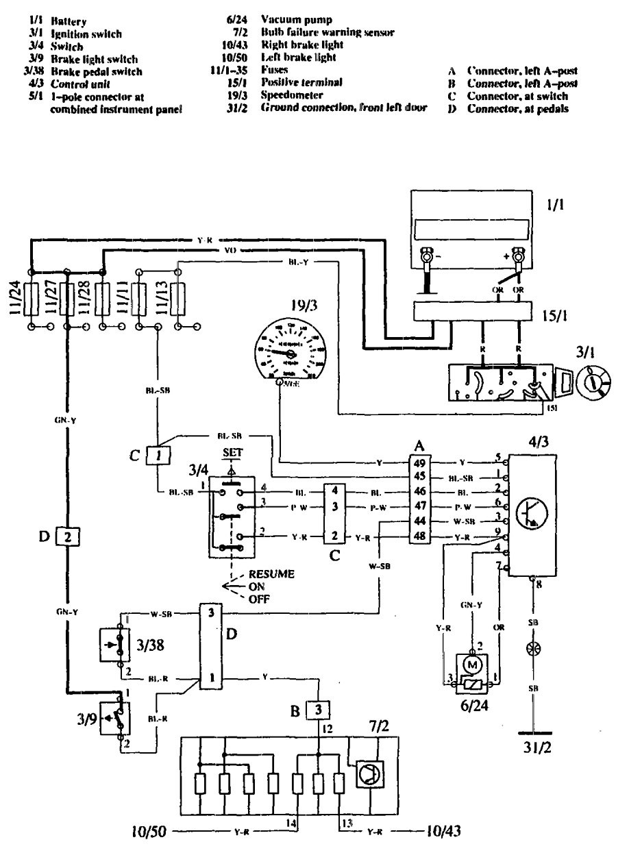 Volvo 760 1990 Wiring Diagrams Speed Control
