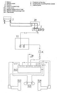 volvo 780 1990 1991 wiring diagrams seat belts. Black Bedroom Furniture Sets. Home Design Ideas