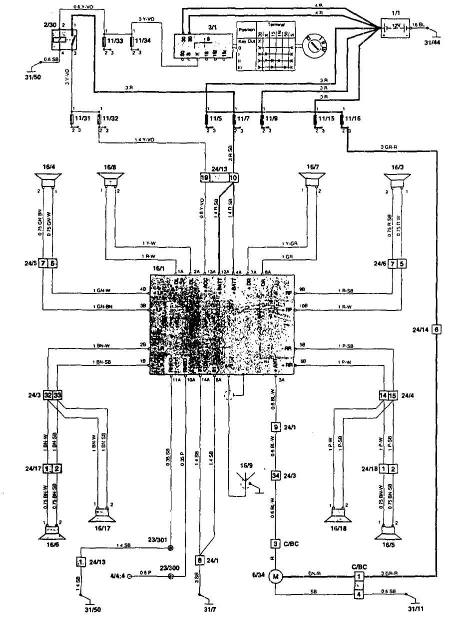 Volvo 850 1995 Wiring Diagrams Audio Carknowledge Info