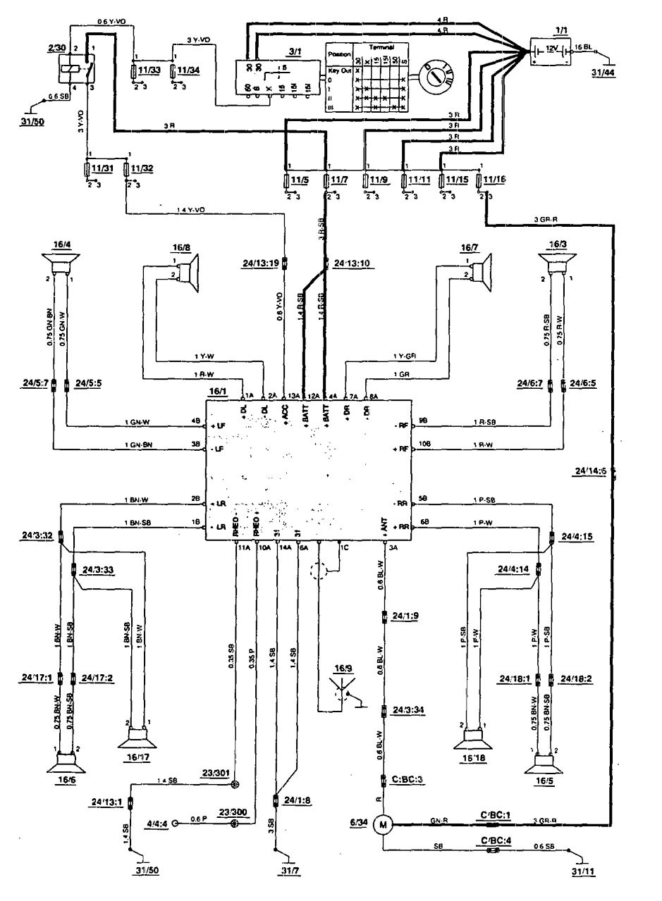 Volvo 850 Car Stereo Wiring Diagram : Volvo wiring diagram auto