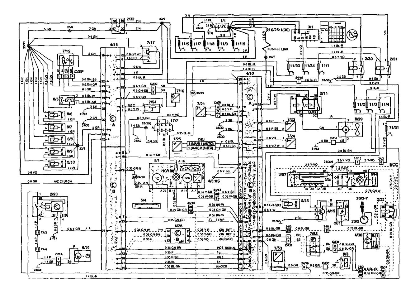 1994 volvo 850 stereo wiring diagram 1994 volvo 850 air