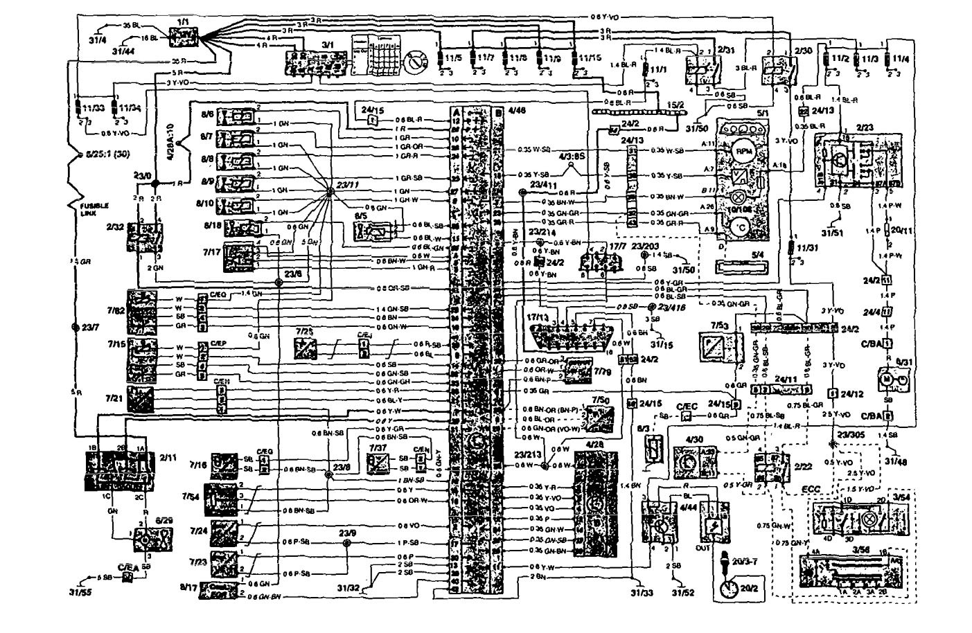 Volvo 850  1995  - Wiring Diagrams