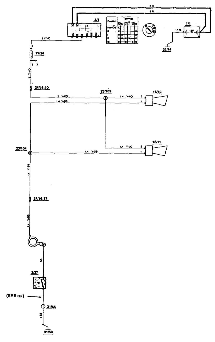 Volvo 850 Horn Wiring Diagram : Volvo  wiring diagrams horn carknowledge