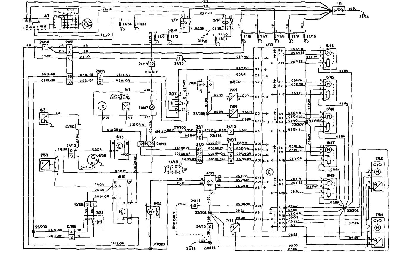 Volvo 850 Car Stereo Wiring Diagram : Volvo  wiring diagrams hvac controls