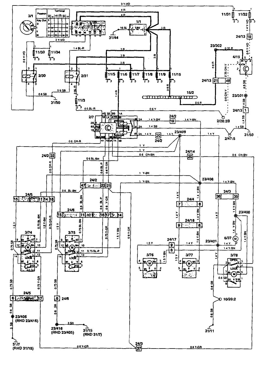 1994 Volvo 850 Stereo Wiring Diagram