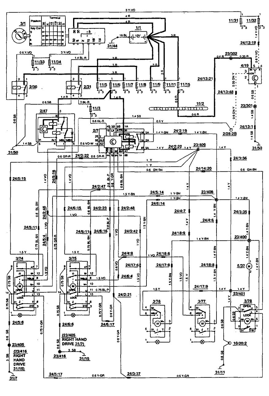 Volvo Hu 603 Wiring Diagram Electrical Diagrams Fuse 240 1995 940
