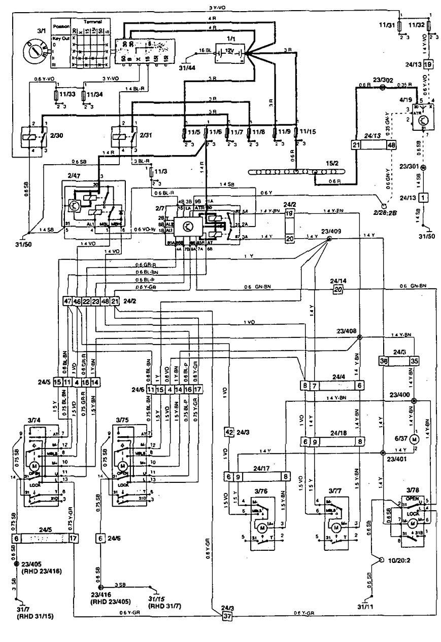 Volvo 850 1995 Wiring Diagrams Power Locks Carknowledge Info