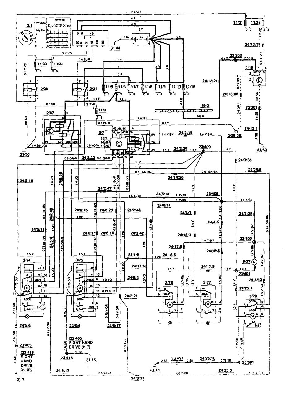 1994 Volvo 850 Stereo Wiring Diagram : Famous volvo wiring diagram collection