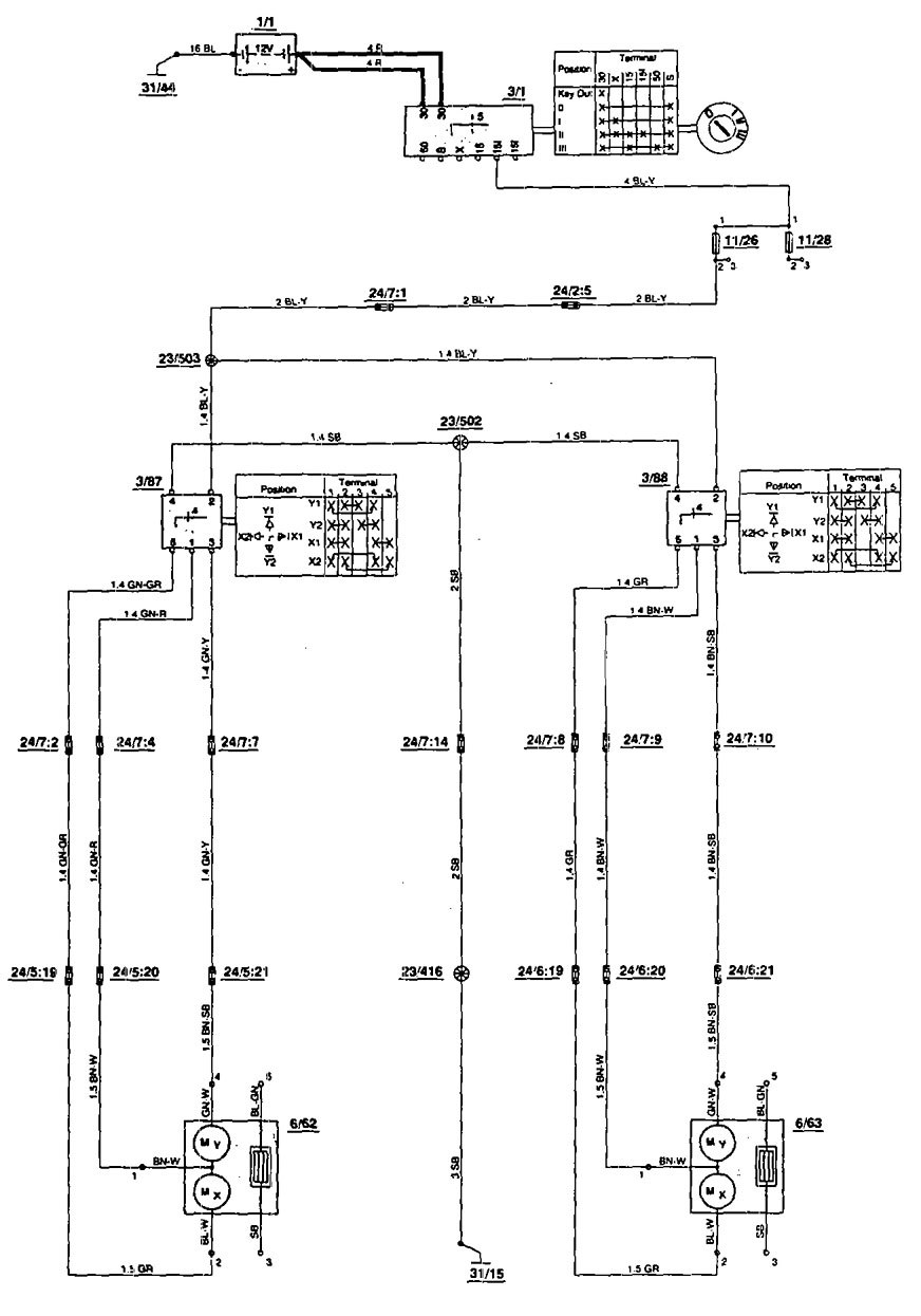 1994 Volvo 850 Wiring Diagram Great Design Of 1997 Fuse Box Diagrams Power Mirrors 1996 Relay