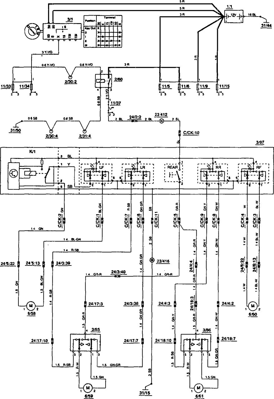 volvo 850 wiring diagram power windows 1 1993 volvo 850 (1993) wiring diagrams power windows carknowledge 1995 volvo 850 wiring diagram at crackthecode.co