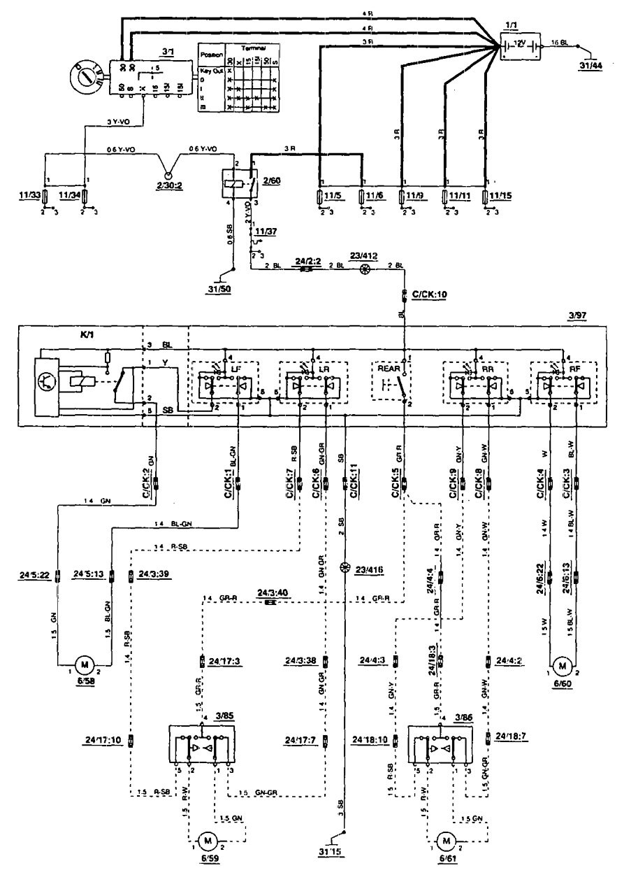 1994 Volvo 850 Wiring Diagram Great Design Of Radio Diagrams Power Windows Stereo Ac For