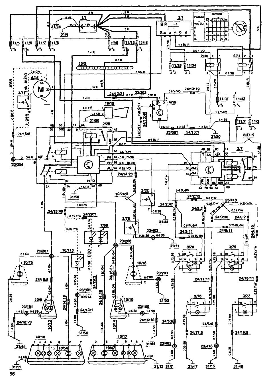 Volvo 850 (1993) - wiring diagrams - security/anti-theft - Carknowledge.infoCarknowledge.info