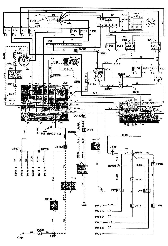 volvo 850  1996  - wiring diagrams  anti