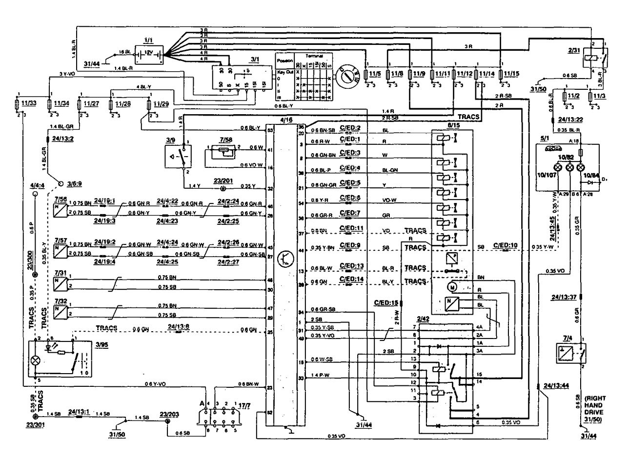 Volvo 850 1995 Wiring Diagrams Traction Controls Carknowledge Electrical Diagram