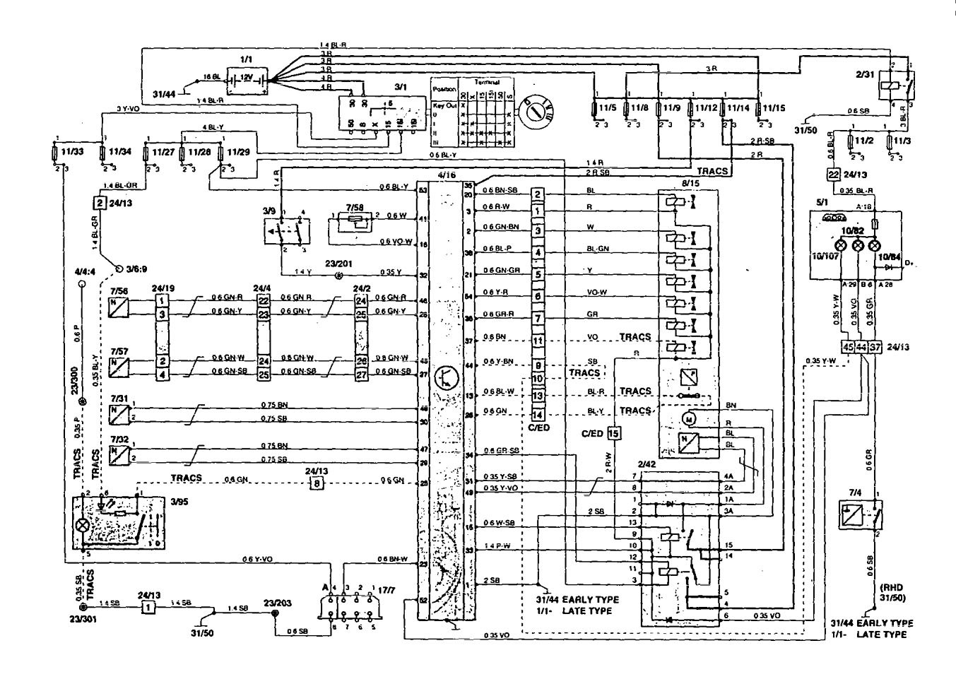 Volvo 850 Car Stereo Wiring Diagram : Volvo  wiring diagrams traction controls