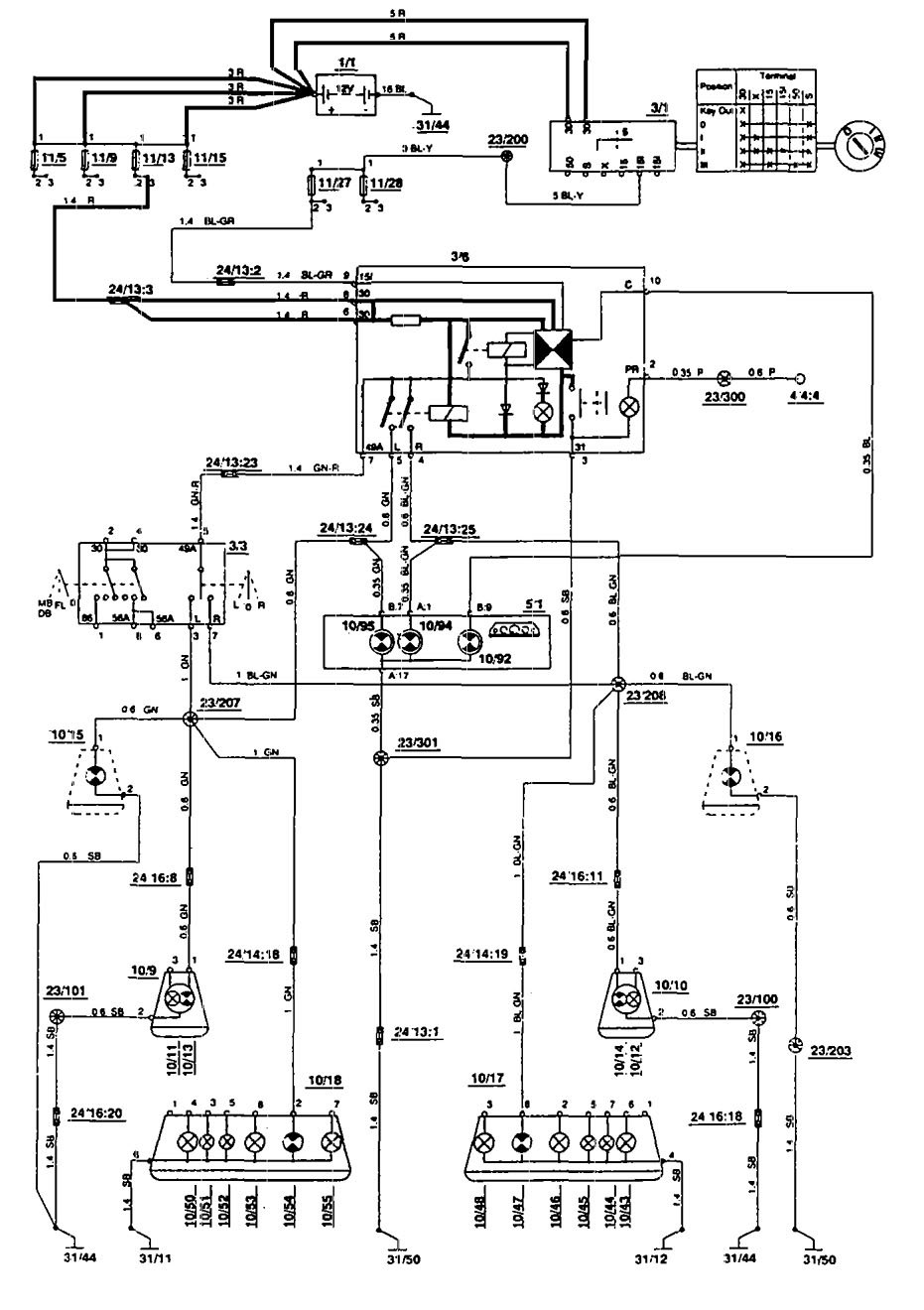 Volvo 850 Car Stereo Wiring Diagram : Volvo  wiring diagrams turn signal lamp