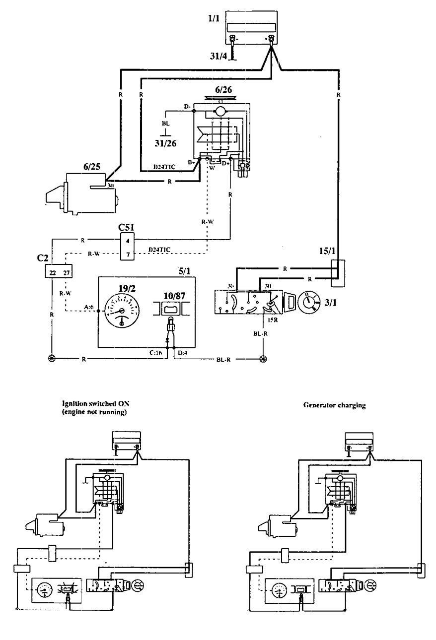 Wiring Diagram For 1994 Volvo 940 : Volvo  wiring diagrams charging system