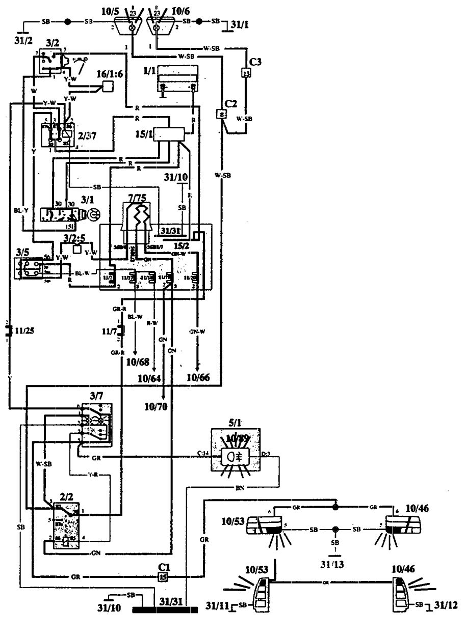 1995 volvo 960 engine diagram