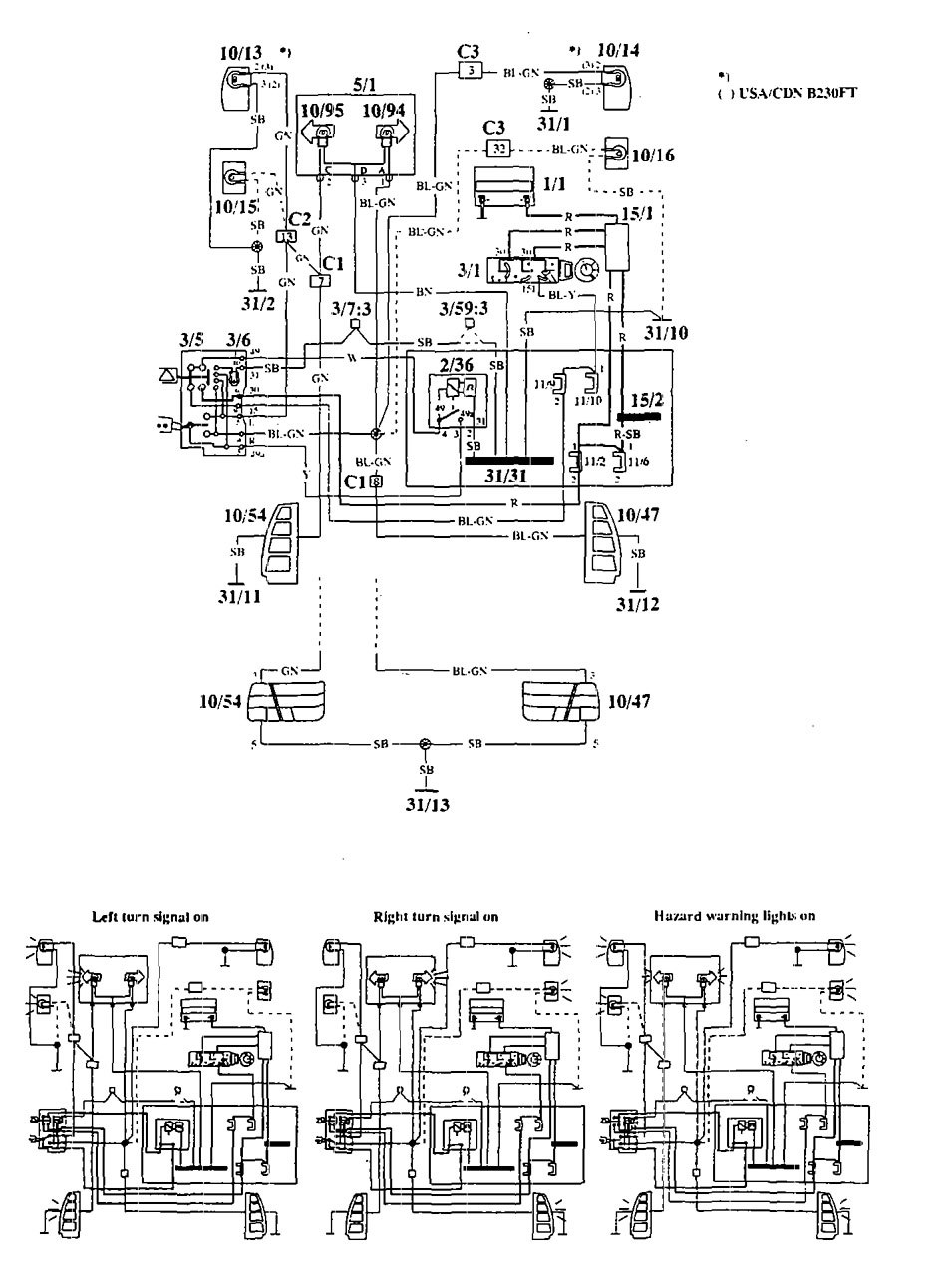 Volvo 940 Wiring Diagram Schematics 630 1994 Diagrams Hazard Lamp Carknowledge Subaru Baja