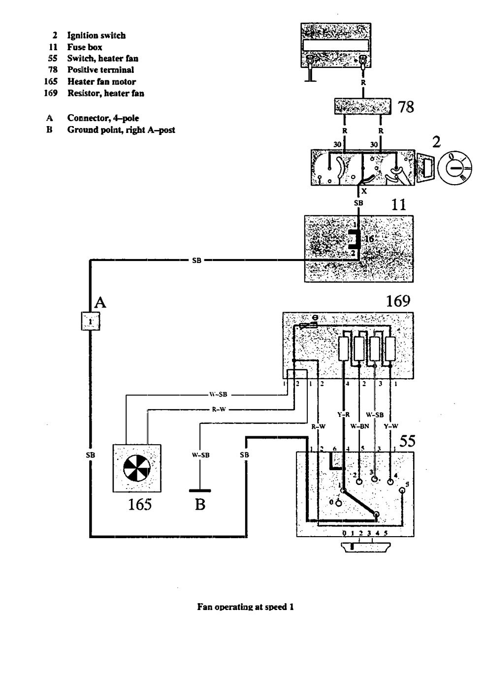 volvo 940  1991  wiring diagrams heater fans