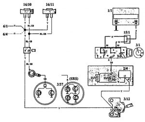 Volvo 940 (1993) - wiring diagrams - horn - Carknowledge.info | Volvo 850 Horn Wiring |  | Carknowledge.info
