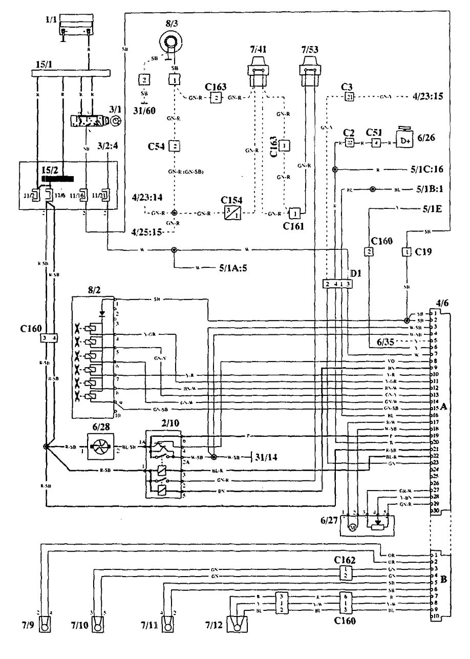 Wiring Diagram For 1994 Volvo 940 : Volvo  wiring diagrams hvac controls