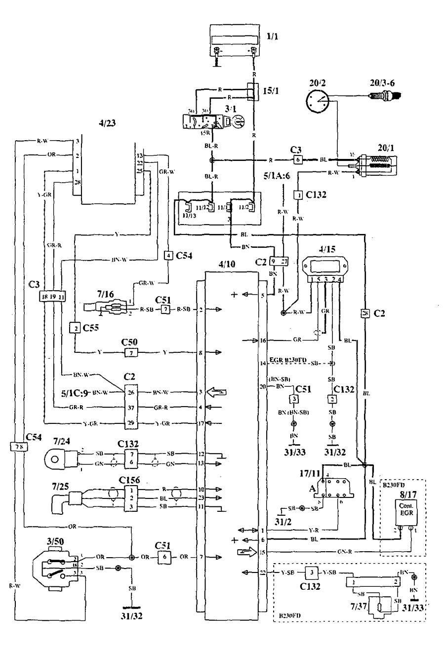 volvo 940  1994  wiring diagrams ignition carknowledge