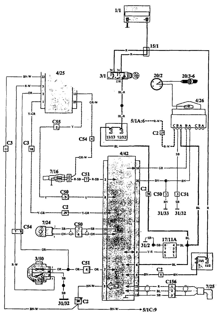 Volvo 940     1993      wiring diagrams  ignition  CARKNOWLEDGE