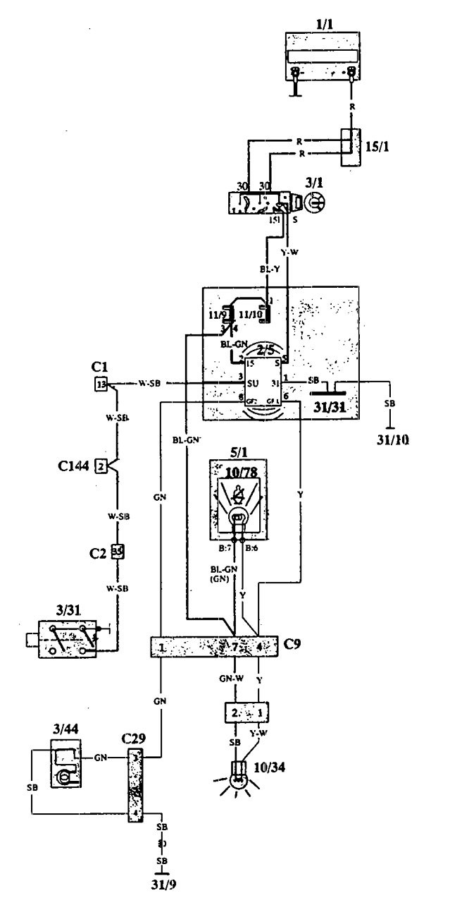volvo 940  1993 - 1994  - wiring diagrams