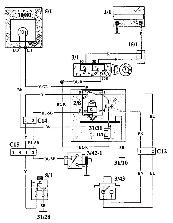 Volvo 940  1993  - Wiring Diagrams