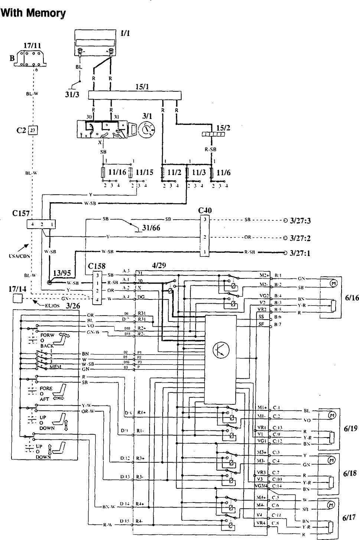Volvo 940 Wiring Diagram 1995: Volvo 940 (1995) u2013 wiring diagrams u2013 power seats u2013 CARKNOWLEDGErh:carknowledge.info,Design