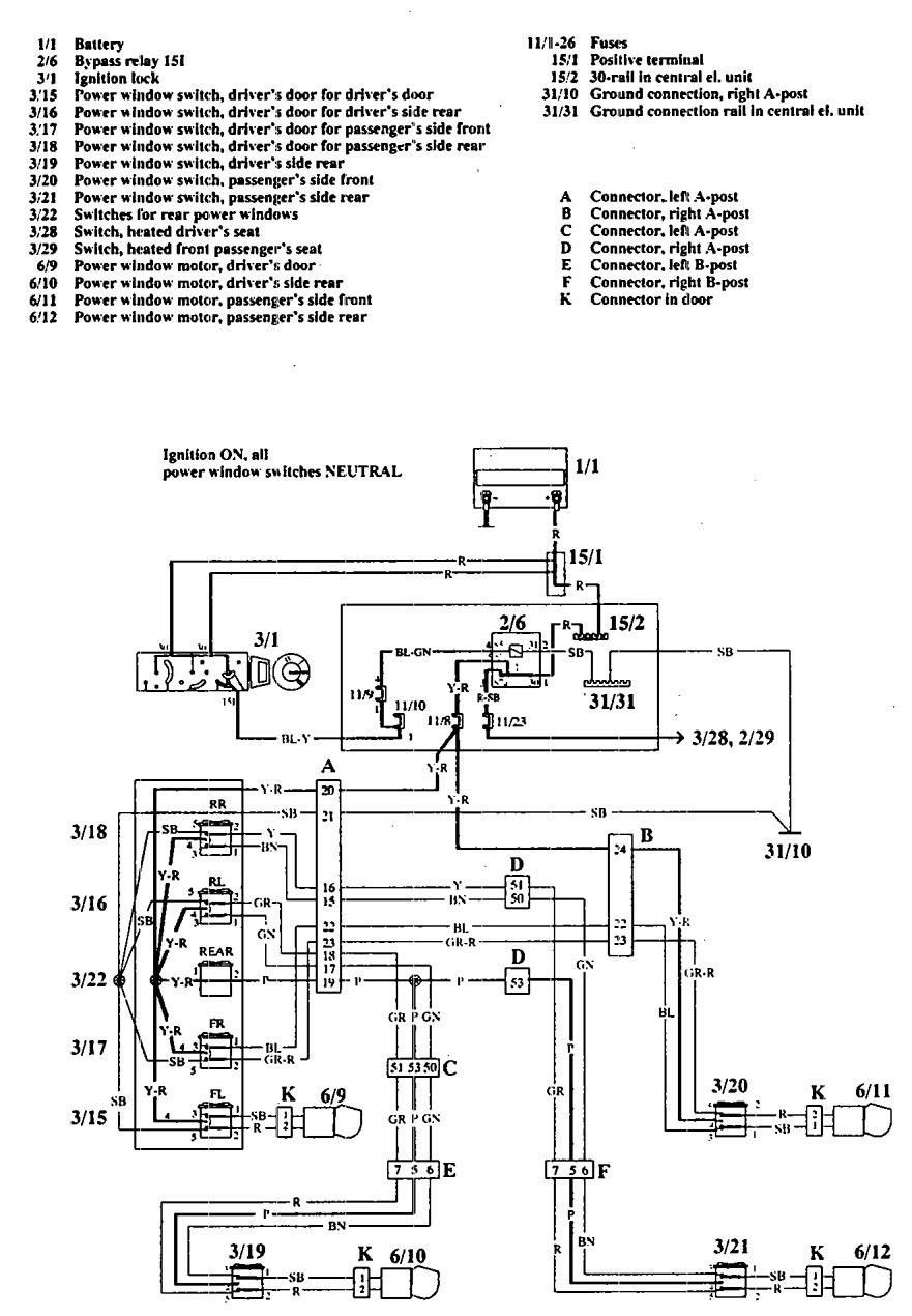 Volvo 240 Power Window Wiring Diagram Simple Options Oldsmobile 940 1992 Diagrams Windows Carknowledge