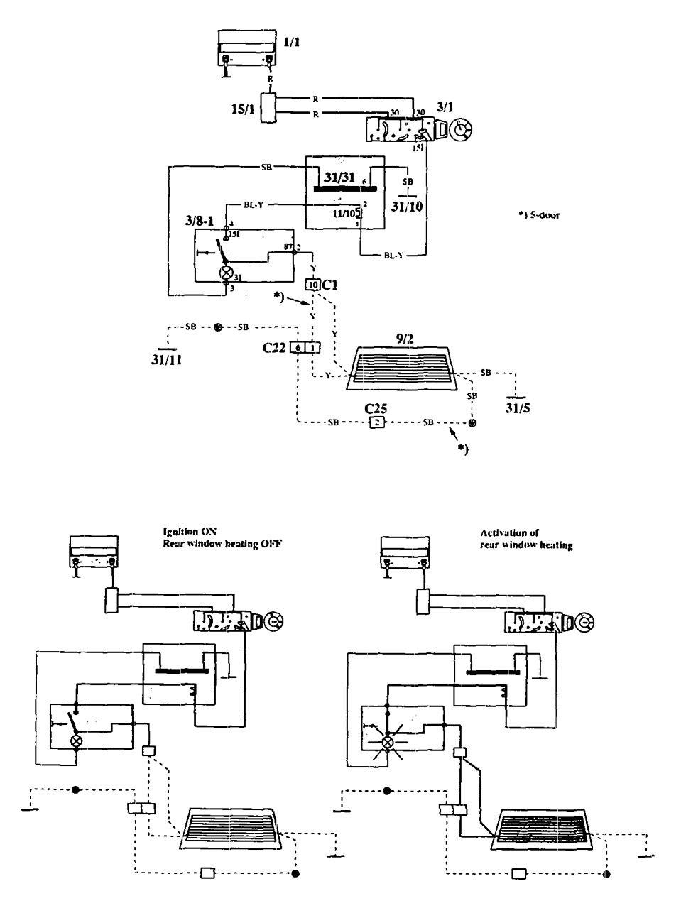 Volvo 940 1994 Wiring Diagrams Rear Window Defogger Carknowledge Diagram