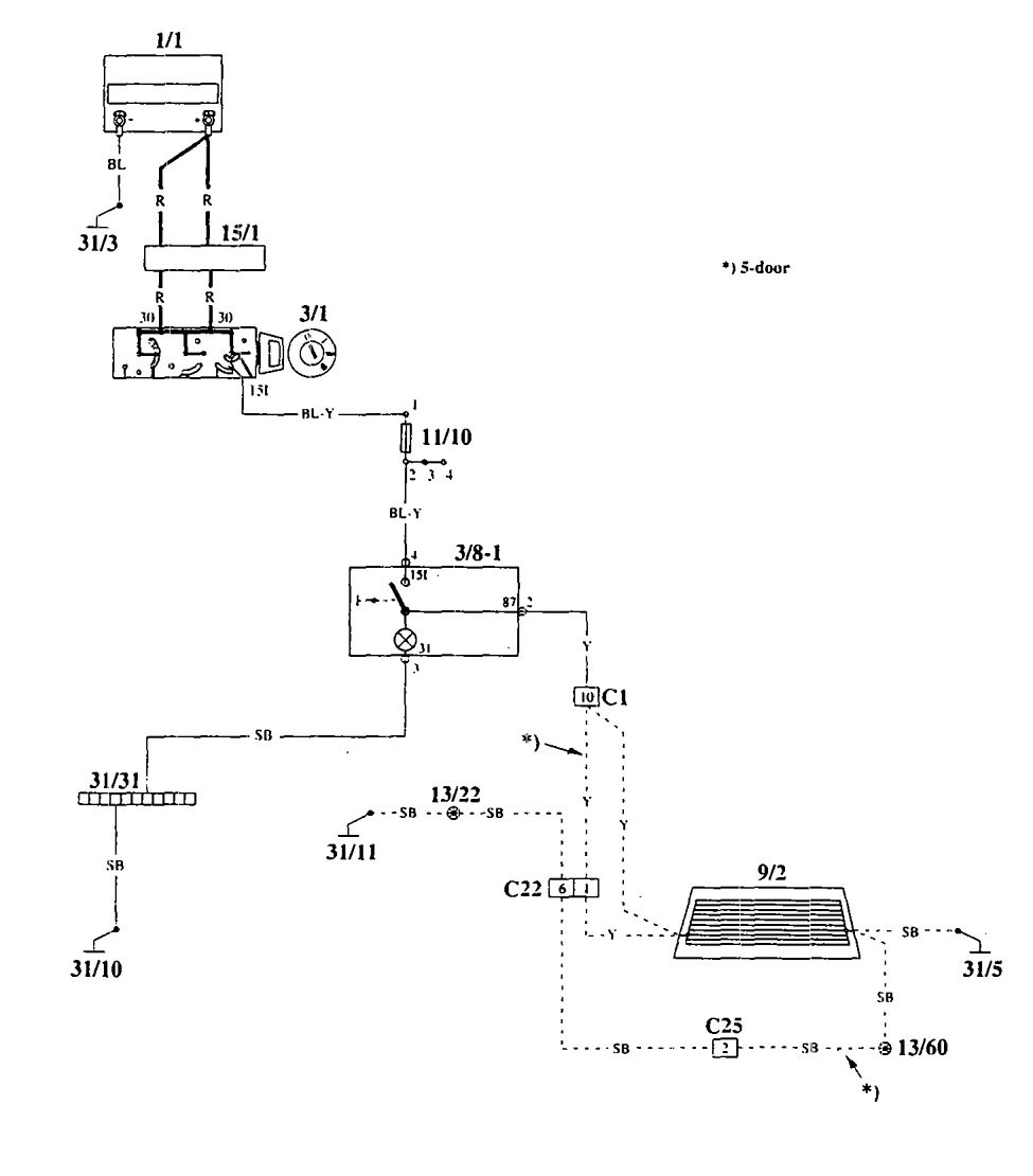 Volvo 940 1995 Wiring Diagrams Rear Window Defogger Carknowledge Diagram